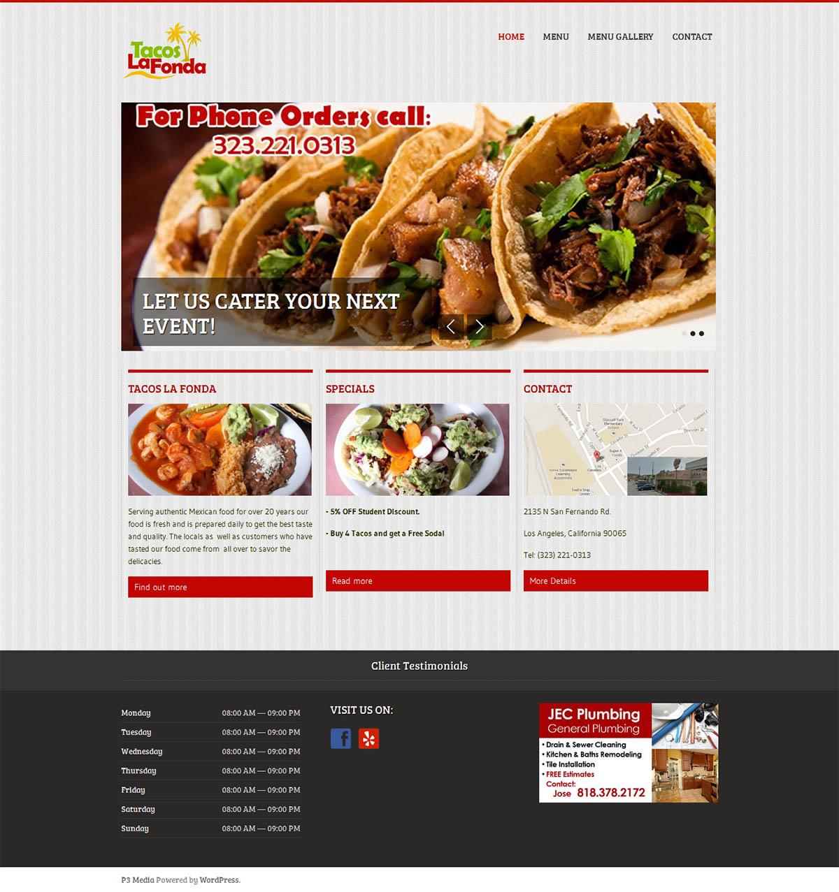 tacos la fonda website